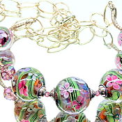Украшения handmade. Livemaster - original item Beads Indian summer lampwork. Handmade.