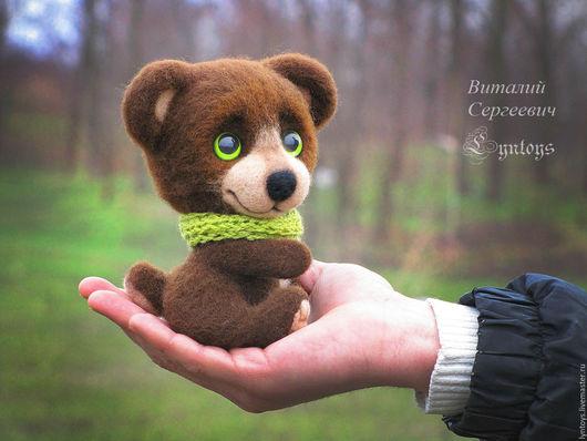 Игрушки животные, ручной работы. Ярмарка Мастеров - ручная работа. Купить Медвежонок Том. Handmade. Коричневый, игрушка в подарок, needlefelting