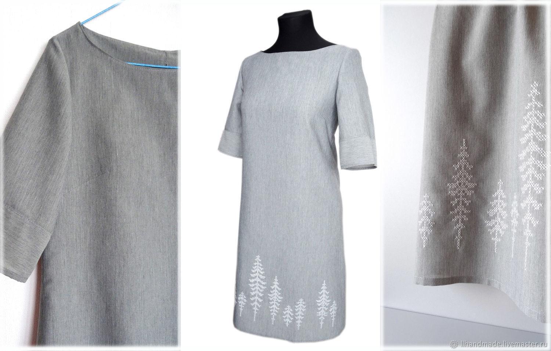 """Платье """"Февраль"""" - ручная вышивка, одежда с вышивкой, Платья, Рязань,  Фото №1"""