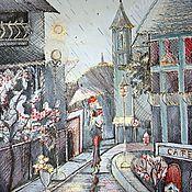 """Картины ручной работы. Ярмарка Мастеров - ручная работа Авторская картина """"Она была в Париже"""". Handmade."""
