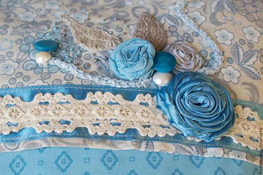 """Текстиль, ковры ручной работы. Ярмарка Мастеров - ручная работа. Купить Текстильные подушки  """"Сладкий сон"""".. Handmade. Голубой, кружева"""