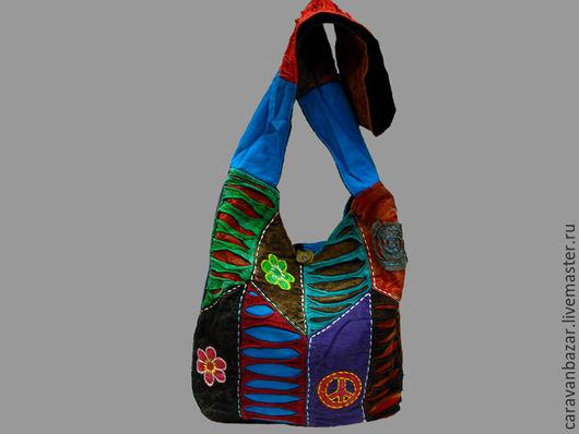 Сумки и аксессуары ручной работы. Ярмарка Мастеров - ручная работа. Купить Яркая этническая сумка. Handmade. Комбинированный, хиппи, раста
