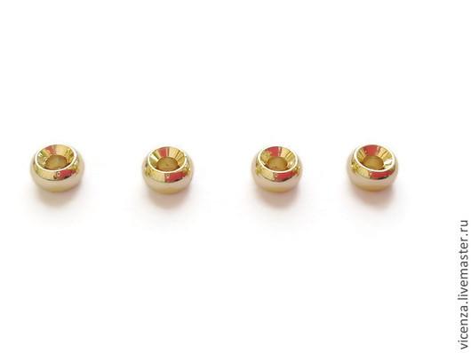 Бусины позолота кольцо выпуклое 4 мм Ю.Корея