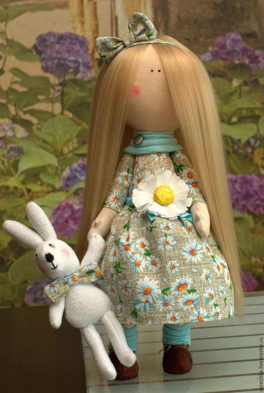 Куклы тыквоголовки ручной работы. Ярмарка Мастеров - ручная работа. Купить Девочка-Ромашка. Handmade. Серый, ромашка