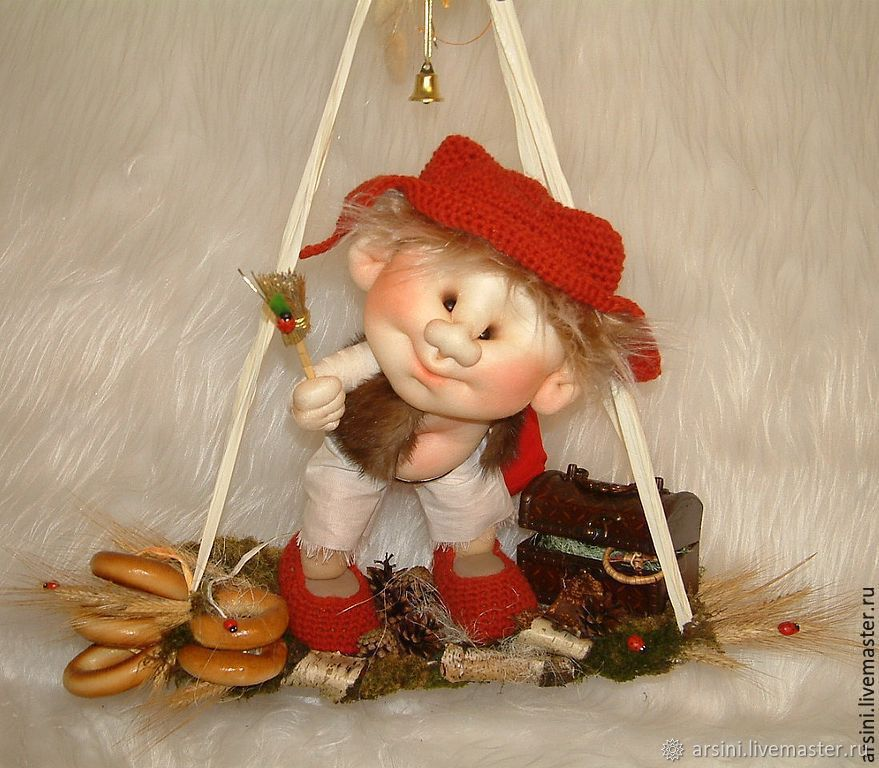 Folk doll: Brownie on the swings, Folk Dolls, Moscow,  Фото №1