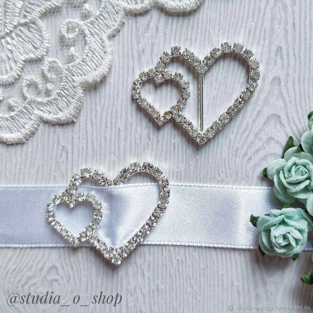 Пряжка. Два сердца.Clear, Элементы для скрапбукинга, Челябинск,  Фото №1