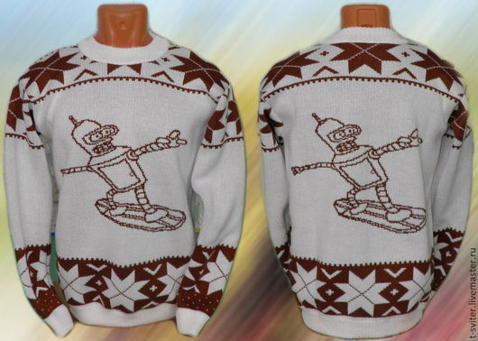 Тату-свитер - БЕНДЕР НА СКЕЙТЕ (в норвежском стиле :))