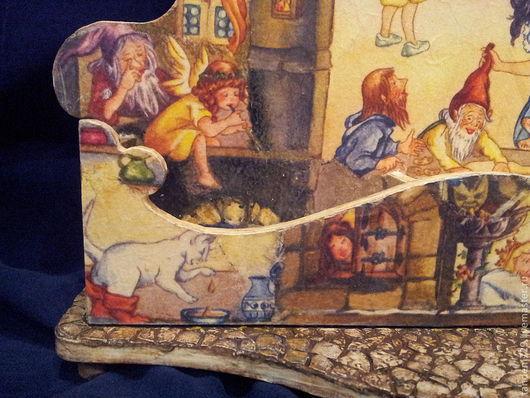 Шкатулка новогодняя декупаж детская Сказочная страна прекрасный новогодний подарок, сказочный подарок для ребенка ручной работы в детскую комнату. Демьяненко Татьяна