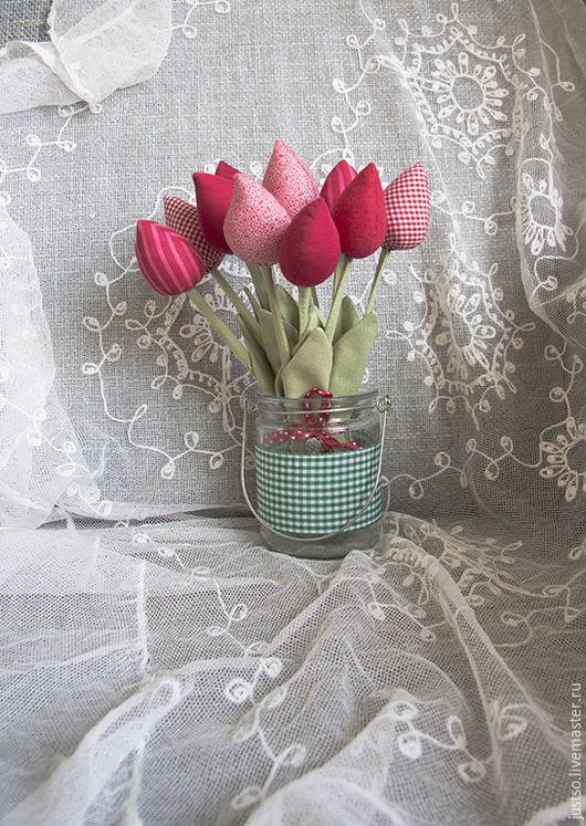 Подарки для влюбленных ручной работы. Ярмарка Мастеров - ручная работа. Купить Тильда Тюльпаны. Handmade. Розовый, цветы