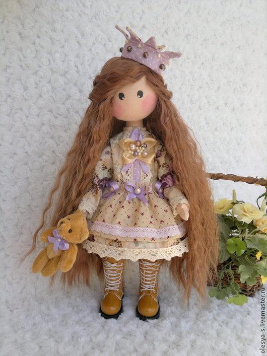 Коллекционные куклы ручной работы. Ярмарка Мастеров - ручная работа. Купить Princess Mali. Handmade. Бледно-сиреневый, трикотаж хлопок