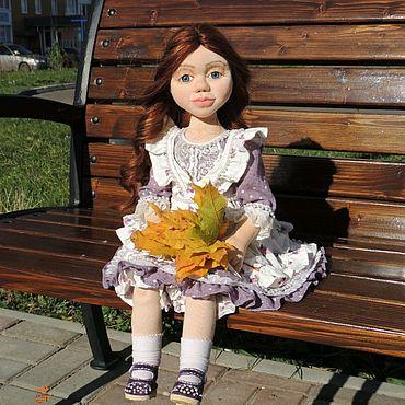 Куклы и игрушки ручной работы. Ярмарка Мастеров - ручная работа Текстильная интерьерная кукла, Виолетта. Handmade.