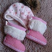 """Обувь ручной работы. Ярмарка Мастеров - ручная работа детские валяные сапожки """"Glam"""". Handmade."""