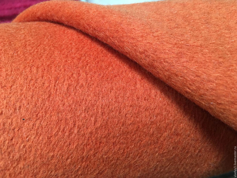 Кашемир пальтовый оранжевый цитрус и цвет яркий лосось, Ткань, Москва, Фото №1