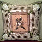 Для дома и интерьера ручной работы. Ярмарка Мастеров - ручная работа Лоскутная подушка с гобеленом. Handmade.