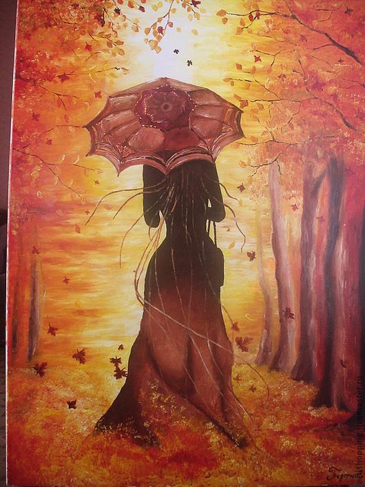 Пейзаж ручной работы. Ярмарка Мастеров - ручная работа. Купить Прощай осень. Картина маслом. Handmade. Осень, масло, подарок