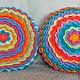 """Текстиль, ковры ручной работы. Ярмарка Мастеров - ручная работа. Купить Подушка """"Радость-2"""". Handmade. Разноцветный, подушка для ребенка"""