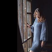 Одежда ручной работы. Ярмарка Мастеров - ручная работа теплое платье с косами. Handmade.