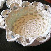 Для дома и интерьера handmade. Livemaster - original item knitted fruit bowl vase for living room. Handmade.