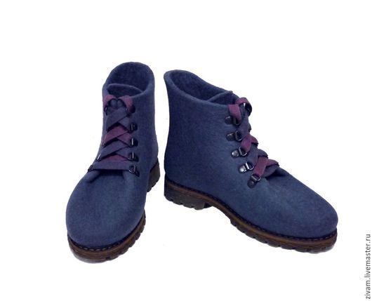 Обувь ручной работы. Ярмарка Мастеров - ручная работа. Купить Ботинки женские Grey. Handmade. Серый, Ботинки из войлока