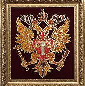 Картины и панно handmade. Livemaster - original item The coat of arms of the Judicial Department from amber. Handmade.