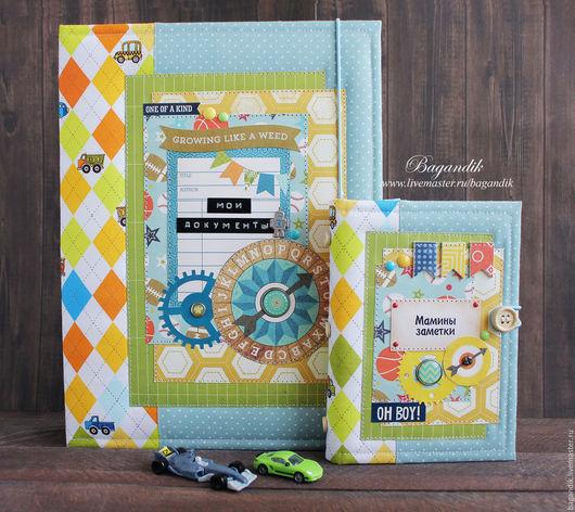 Папки для бумаг ручной работы. Ярмарка Мастеров - ручная работа. Купить Подарочный набор: папка для документов и дневник мамы. Handmade.