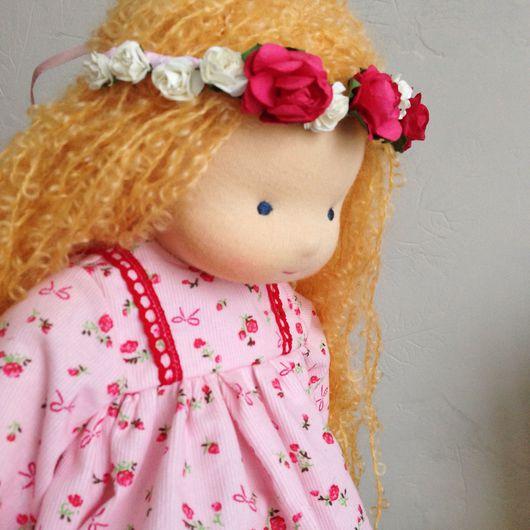 Вальдорфская игрушка ручной работы. Ярмарка Мастеров - ручная работа. Купить Вальдорфская кукла Марфа.. Handmade. Шерсть 100%