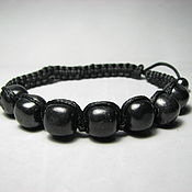 handmade. Livemaster - original item Shambala bracelet with Karelian shungite