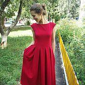 Одежда ручной работы. Ярмарка Мастеров - ручная работа Нарядное длинное платье со складами. Handmade.