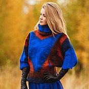 """Одежда ручной работы. Ярмарка Мастеров - ручная работа Куртка  валяная """"Геометрия"""". Handmade."""