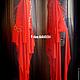 Авторское платье и аксессуар. Копия с Жанны Фриске (в красном цвете). Трикотаж, мелалл. Вид справа и слева.