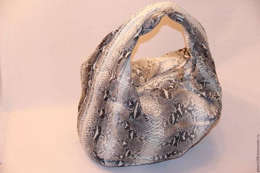 Женские сумки ручной работы. Ярмарка Мастеров - ручная работа. Купить Сумка из кожи питона. Handmade. Вместительная сумка, сумка