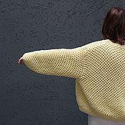 Одежда handmade. Livemaster - original item Spring and summer pastel yellow cotton cardigan. Handmade.