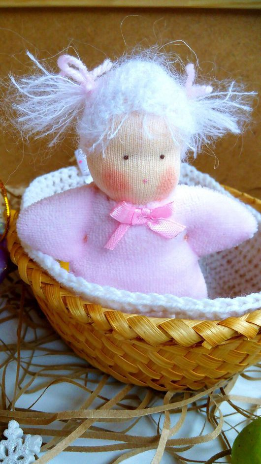 Вальдорфская игрушка ручной работы. Ярмарка Мастеров - ручная работа. Купить Вальдорфская кукла Малышка. Handmade. Вальдорфская кукла