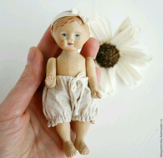 Коллекционные куклы ручной работы. Ярмарка Мастеров - ручная работа. Купить Кукла из дерева малышка пупс. Handmade. Белый