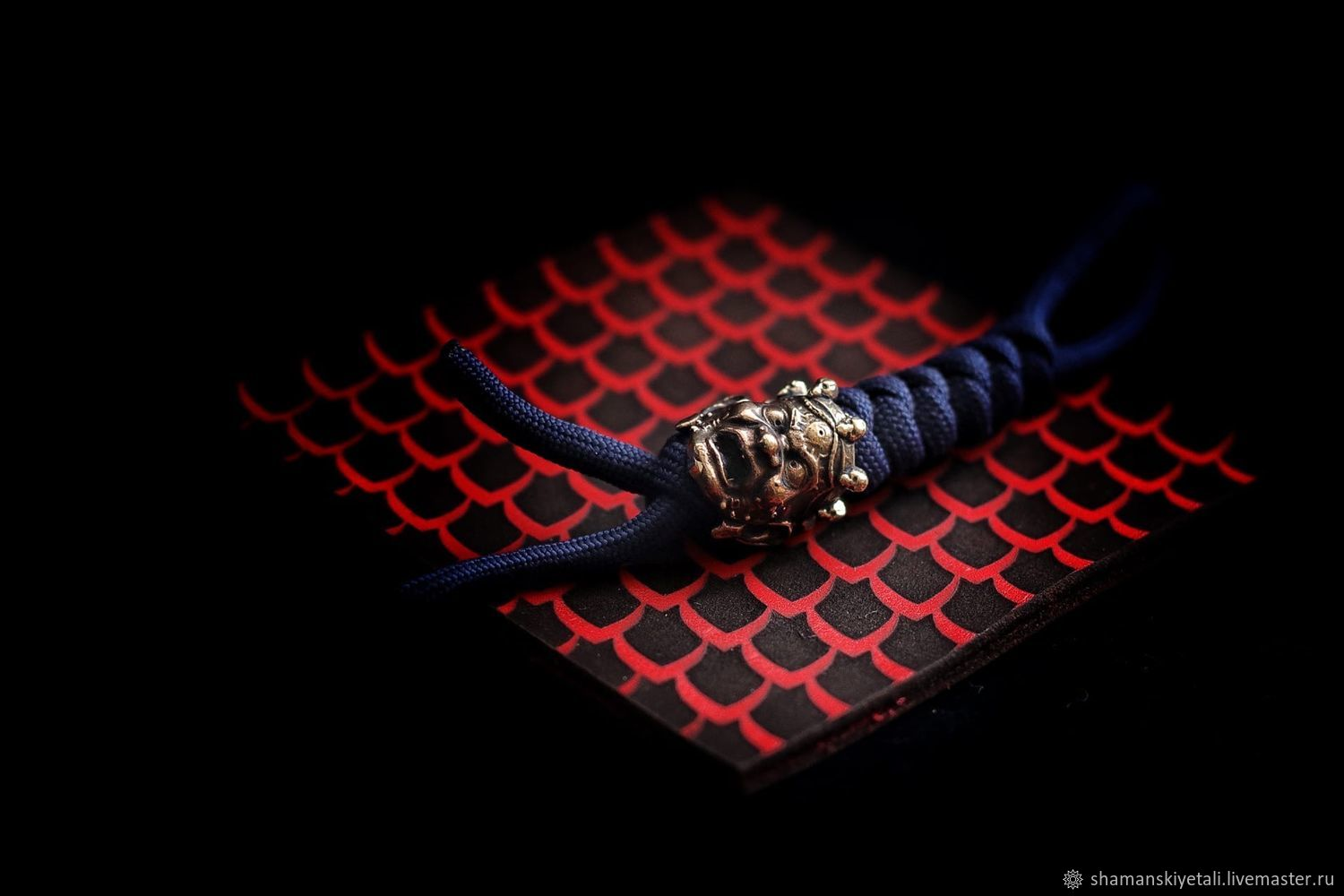 A lanyard from paracord and bronze bead for lanyard demon, Knives, Volgograd,  Фото №1