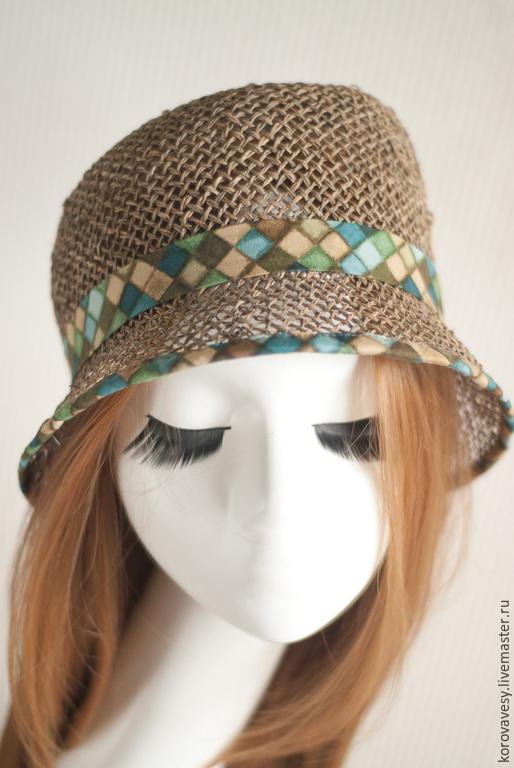 """Шляпы ручной работы. Ярмарка Мастеров - ручная работа. Купить """"Злата"""". Handmade. Бежевый, подарок, модная шляпка, хлопок"""
