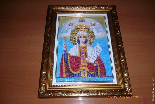 Иконы ручной работы. Ярмарка Мастеров - ручная работа. Купить Икона святой великомученицы Параскевы. Handmade. Разноцветный, прасоквея