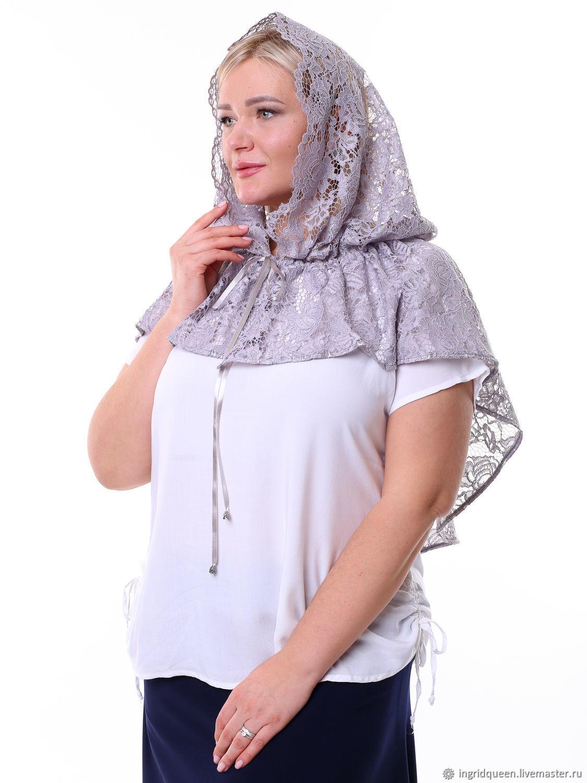 Церковный платок женский в храм 0227-202, Платки, Москва,  Фото №1