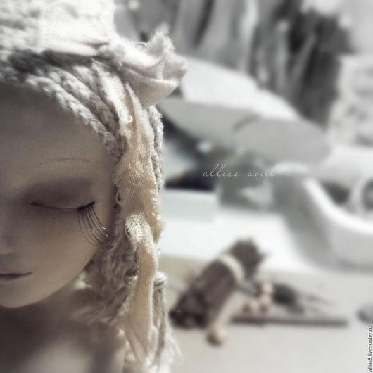 Коллекционные куклы ручной работы. Ярмарка Мастеров - ручная работа. Купить Поли. Handmade. Бежевый, ладолл, текстиль, лак матовый