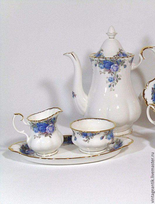 Винтажная посуда. Ярмарка Мастеров - ручная работа. Купить Чайный сет, костяной фарфор, Royal Albert, Англия.. Handmade. Комбинированный