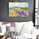 Oil painting `Favorite sun of Italy` in the interior