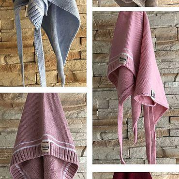 Одежда ручной работы. Ярмарка Мастеров - ручная работа Косынка из 100% шерсти Мериноса. Handmade.