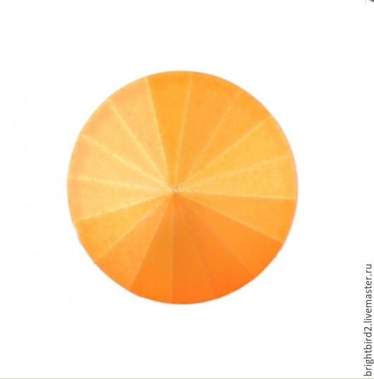 Для украшений ручной работы. Ярмарка Мастеров - ручная работа. Купить Риволи 10,12,14 мм Neon Orange Matt 1122  Сваровски. Handmade.