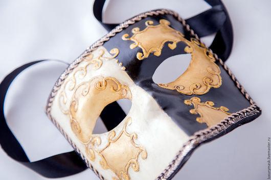 """Карнавальные костюмы ручной работы. Ярмарка Мастеров - ручная работа. Купить Венецианская карнавальная маска """"Баута"""". Handmade. Чёрно-белый"""