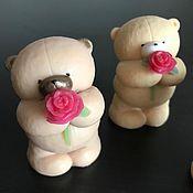 Мыло ручной работы. Ярмарка Мастеров - ручная работа Мишка с розой. Handmade.