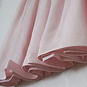 "Одежда ручной работы. Ярмарка Мастеров - ручная работа Юбка шелковая ""Розовая пудра"". Handmade."