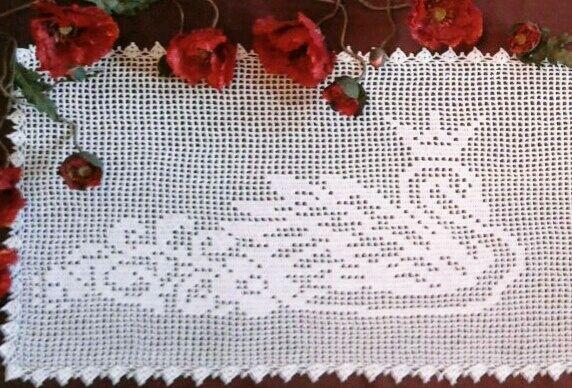 Tablecloth - path crocheted ' Swans', Tablecloths, Nikolaev,  Фото №1