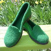 Обувь ручной работы handmade. Livemaster - original item Felted loafer
