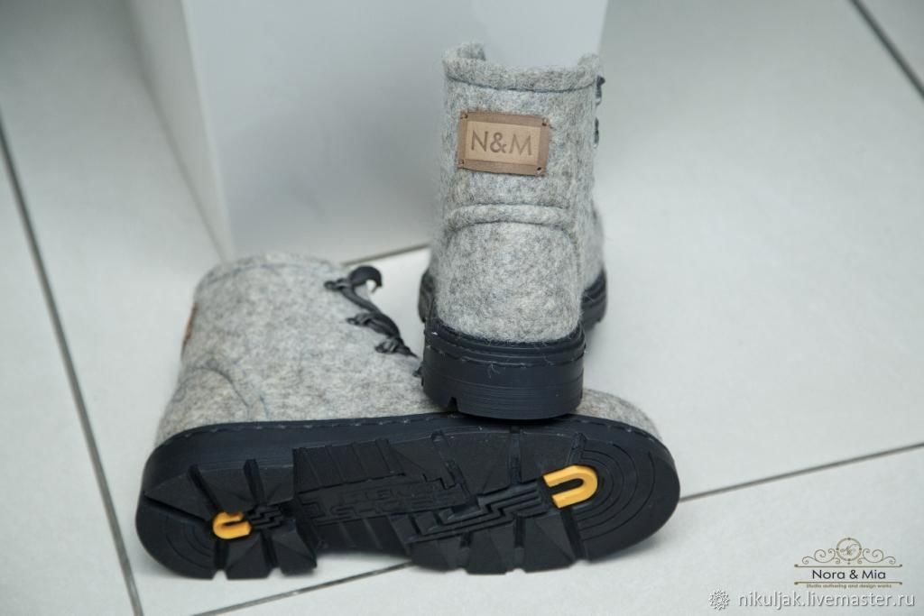Men's shoes light grey, Boots, Dnepropetrovsk, Фото №1