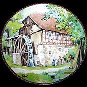 """Винтаж handmade. Livemaster - original item Великолепная серия тарелок """"Водяные мельницы"""", Karl Bedal. Германия. Handmade."""